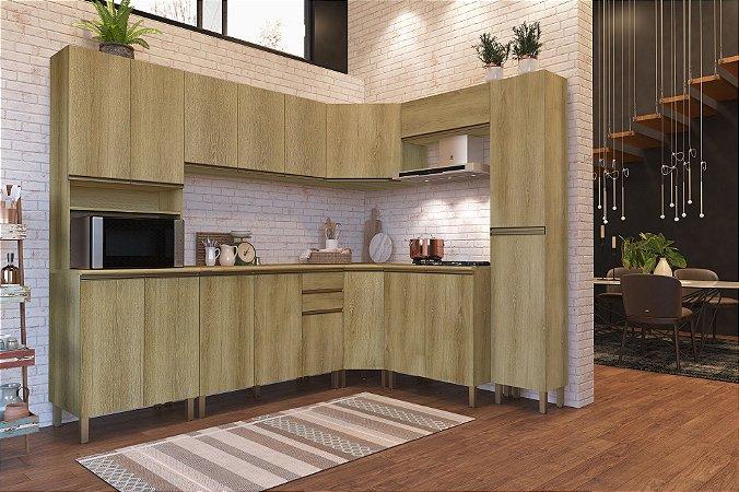 Cozinha Planejada Dinamarca Indekes 8pçs Castanho 263x53x217