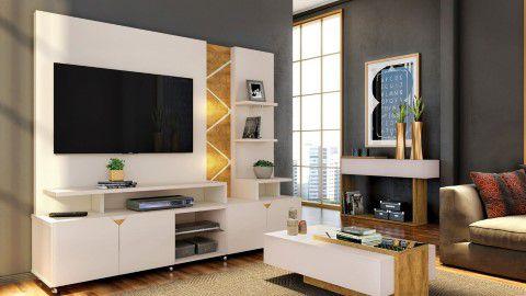 Home Cross 4Pts TV55''  210x47x180  Off/Amêndoa Lukaliam