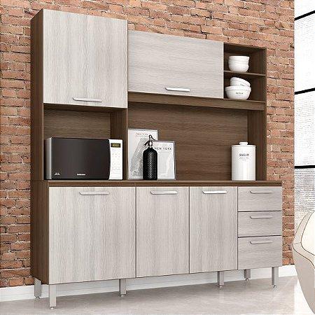 Cozinha Completa Nina Movemax Noce/Castanho 180x180x38