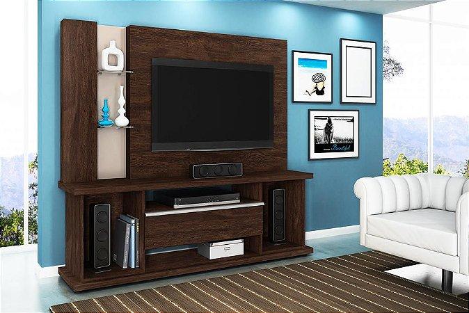 "Home Onix p/ TV 55"" 183x178x45 Imbuia/Creme Lukaliam"