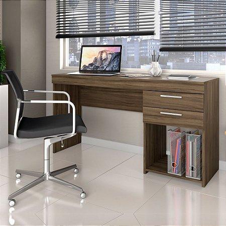 Escrivaninha Office 2 Gavetas Nogal Notável