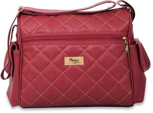 de4fcf2c8 Bolsa de Maternidade Básica Matelasse Bordô com Caramelo - Mamãe de Luxo