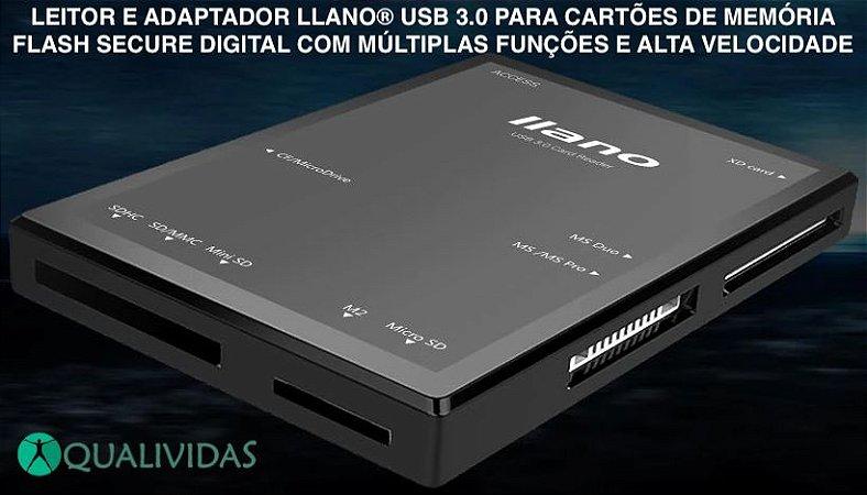 Leitor de cartão de memória USB 3.0 llano externo universal
