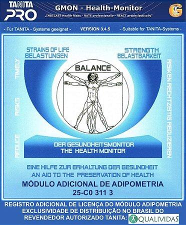 Registro adicional para Módulo de Adipometria do software profissional Tanita Pro Gmon Health