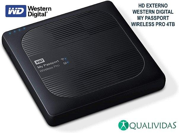 HD Externo Portátil Western Digital My Passport Wireless Pro 4 Tb