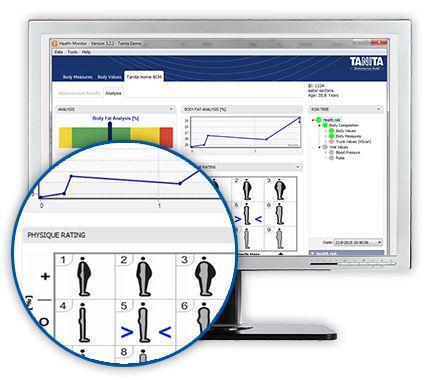 Software Original Gmon Health Profissional Ilimitado em Português Para as Balanças Tanita BC-601 e BC-1000