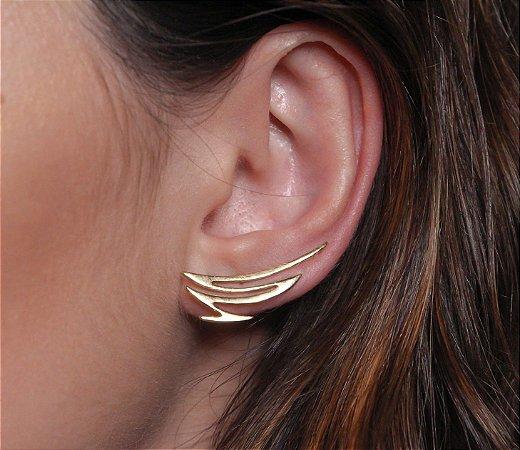 Ear cuff zig zag banhado a ouro