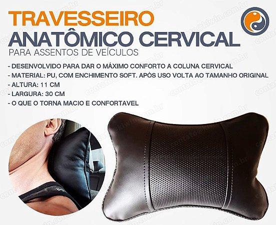Travesseiro Anatômico Cervical para Assentos de Veiculos