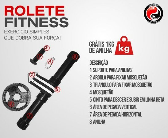 24 unidades- ROLETE FITNESS