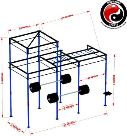 RACK - DECK - GAIOLA CROSSFIT PRONTA ENTREGA
