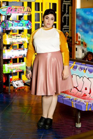 Blusa Plus Size Raglã