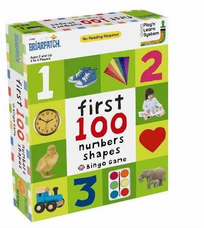 First 100 Numbers Shapes Bingo Game
