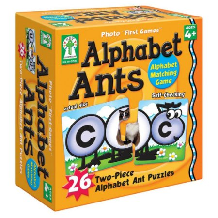 ALPHABET ANTS GAME- TWO PIECE PUZZLES