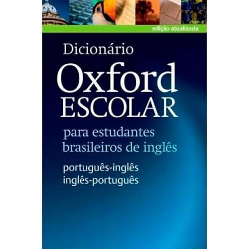 DICIONARIO ESCOLAR OXFORD ING/PORT - PORT/ING