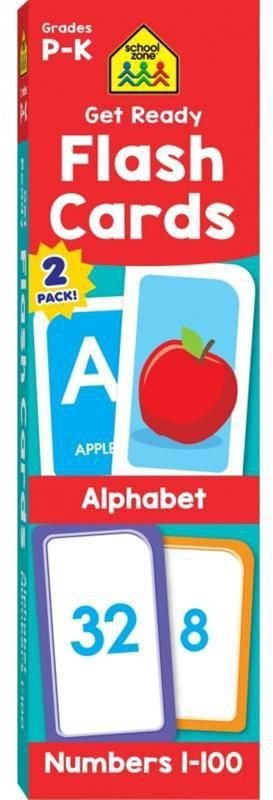 GET READY FLASH CARDS ALPHABET & NUMBERS 2-PACK GRADES P-K