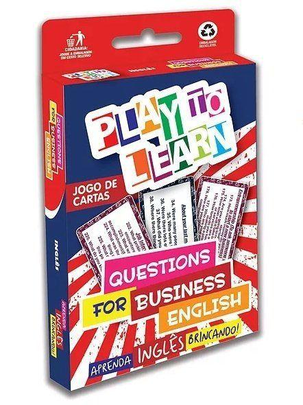 JOGO DE CARTAS - QUESTIONS FOR BUSINESS ENGLISH