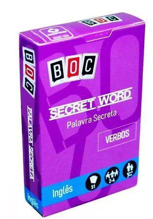 JOGO DE CARTAS - SECRET WORD (VERBS)