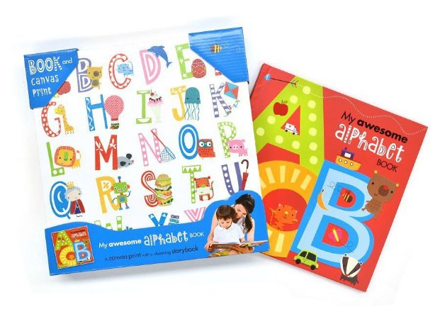 MY AWESOME ALPHABET -BOOK AND CANVAS PRINT