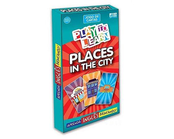 PLACES IN THE CITY - LUGARES DA CIDADE EM INGLES - JOGO DE TABULEIRO