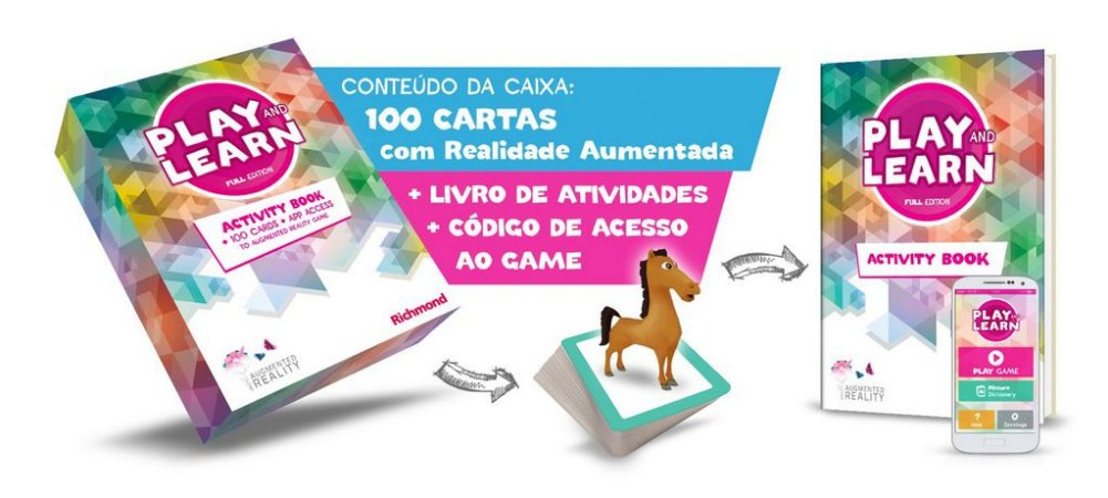 PLAY AND LEARN -  FULL EDITION COM ACTIVITY BOOK E ACESSO APP JOGO DE REALIDADE AUMENTADA