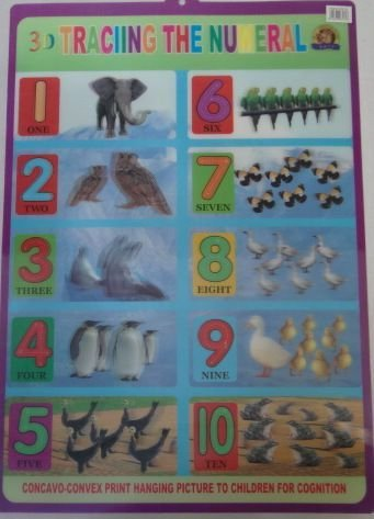 POSTER 3D - TRACING THE NUMERAL