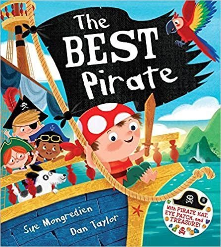 THE BEST PIRATE: WITH PIRATE HAT, EYE PATCH AND TREASURE