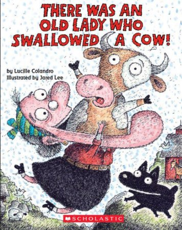 There was an old lady who swallowed a cow - boardbook