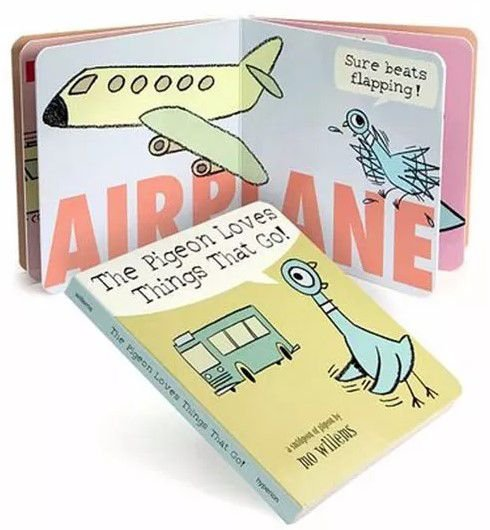 The Pigeon Loves Things that go- board book