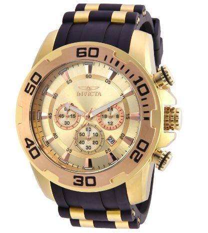 Relógio Invicta Pro Diver 22342 Scuba Original Dourado