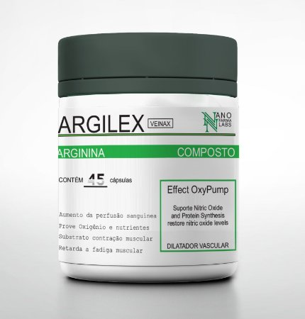 Vasodilatador Argilex - 45 Cápsulas - Nano Farma Labs