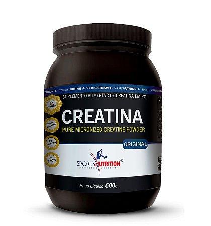 Creatina Monohidratada em Pó - 500g - Sports Nutrition