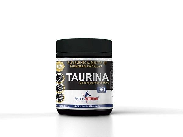 Taurina 100% - 60 Capsulas  Sports Nutrition