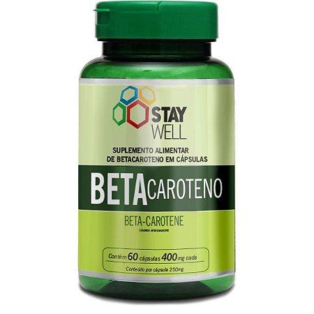 Betacaroteno Com Óleo De Cenoura 60 Cápsulas 400mg Stay Well