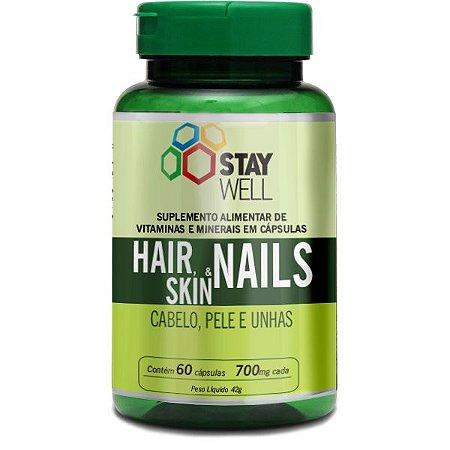 Cabelo, Unha & Pele (Skin, Hair & Nails) 60 Capsulas 700mg - Stay Well