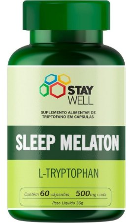 L-triptofano Sleep Melaton 500mg Stay Well - 60 Cápsulas