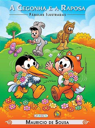 Turma da Mônica - fábulas ilustradas - a cegonha e a raposa
