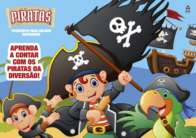 Piratas - Prancheta para colorir- Supersérie