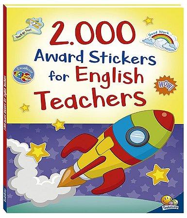 2000 award stickers for english teachers