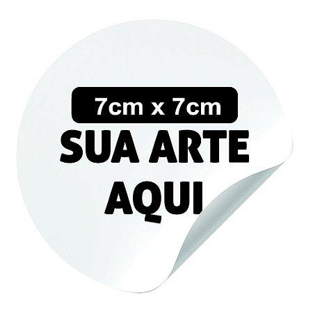 Adesivo em Vinil 7x7cm - 100und