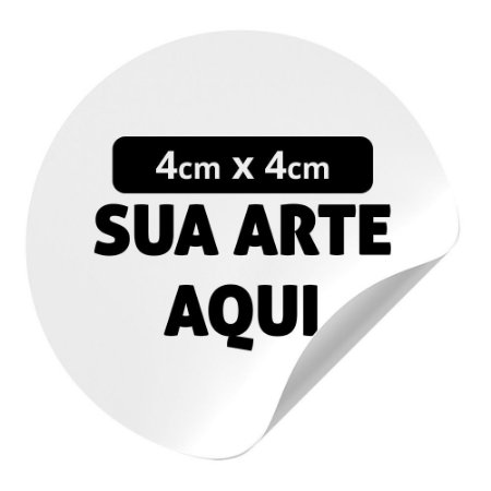 Adesivo em Vinil 4x4cm - 50und