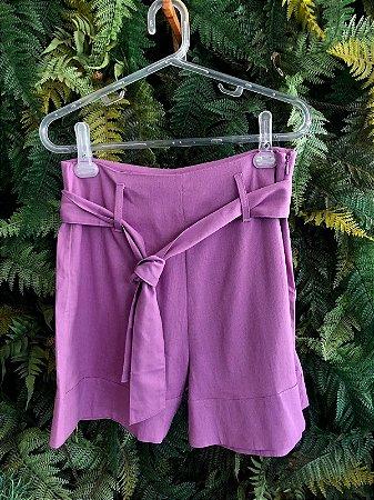 Shorts Alfaiataria Lavanda