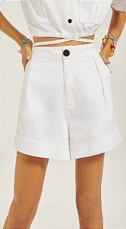 Shorts Confort Bolso Faca Off White
