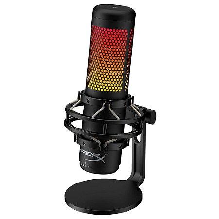 Microfone Hyperx Quadcast S Antivibração Led Rgb Hmiq1s-xx-r