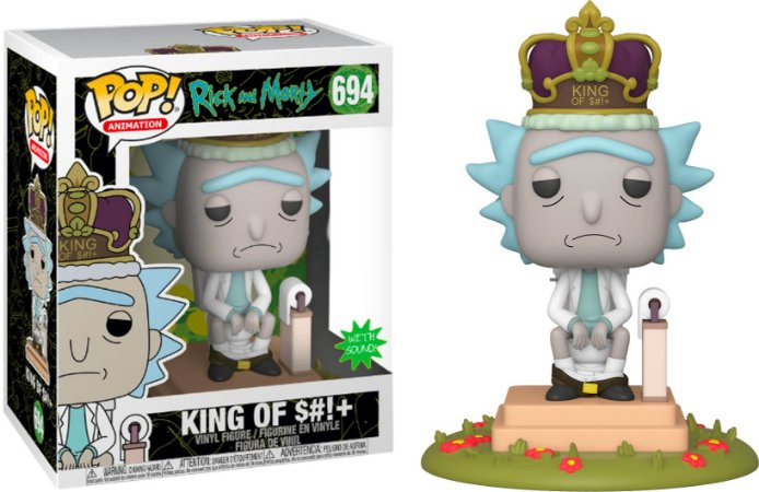 Rick and Morty - Funko POP! King of S#!+ (with sound) - 694