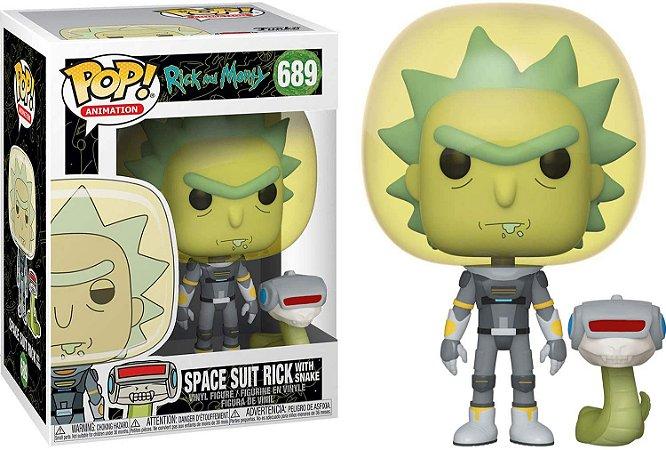 Boneco Rick e Morty Space Suit Rick With Snake. Pop Funko 689