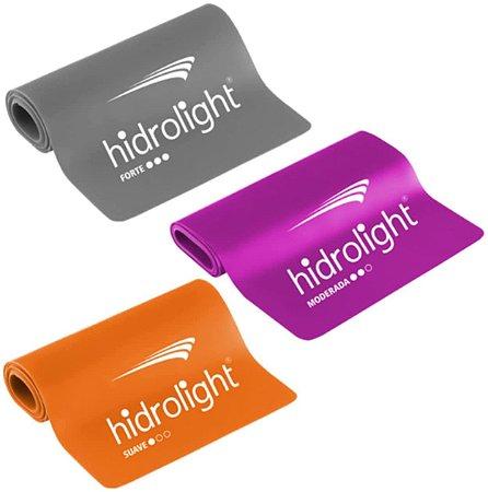 Kit Faixa Elástica 3 peças Hidrolight