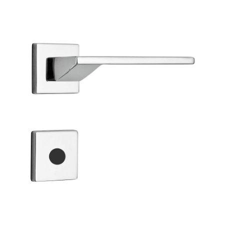 Fechadura para Porta Interna Cromada 55mm com Roseta MZ440 Design Papaiz