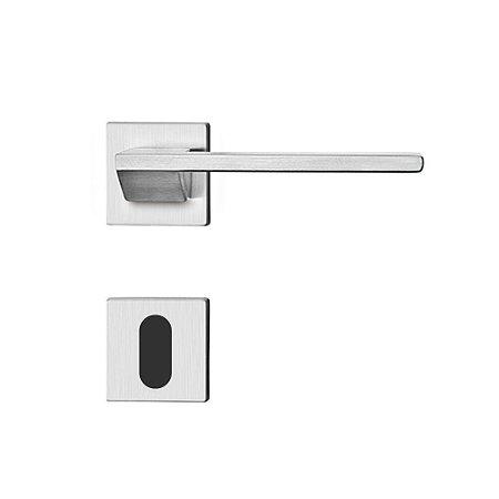 Fechadura para Porta Interna Cromo Acetinado 55mm com Roseta MZ440 Design Papaiz