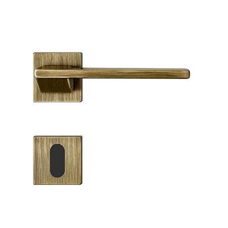 Fechadura para Porta Interna Oxidada 55mm com Roseta MZ440 Design Papaiz