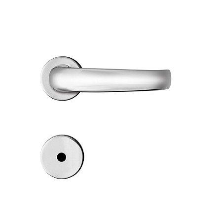 Fechadura para Porta de Banheiro Cromada com Roseta MZ820 Standard Papaiz